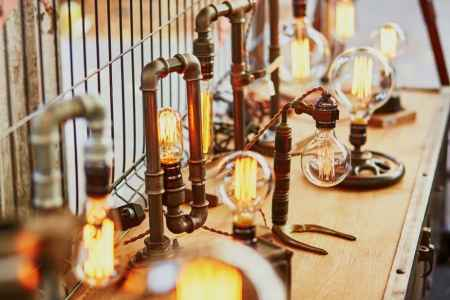 Edison bulbs antique lamps - Kansas Star Arena flea market promotion