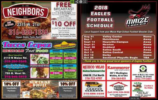 New coupons for Wichita, Harvey County, and Hutch at