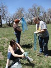 Dyers oxidizing their fiber