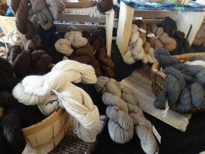 More of their gorgeous yarn in a variety of natural colors.