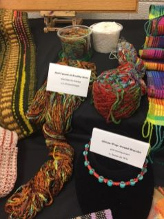 Lavonna Morgan and Paula Smith's dyed 'cupcakes' and Susan de Wit's bracelet