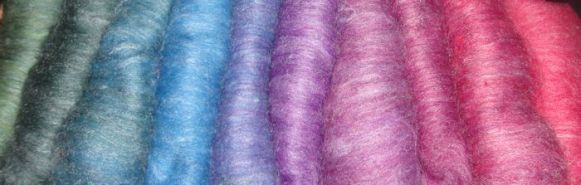 Rainbow of carded batts