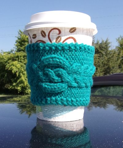 Cabled Coffee Cup Sleeve