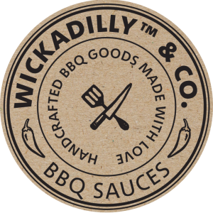 Das Logo von WICKADILLY & Co. - BBQ SAUCES - HANDCRAFTED BBQ GOODS MADE WITH LOVE.
