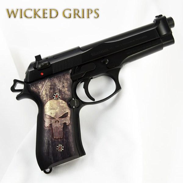 Custom Beretta 92fs Pistol Grips Full Metal Punisher