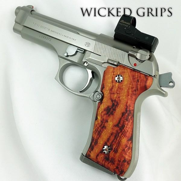 Custom Beretta 92fs Pistol Grips Desert Burl