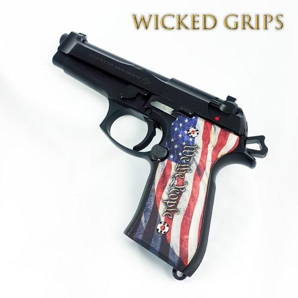 Custom Beretta 92fs Grips People Ver 4 - Wicked
