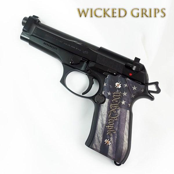 Custom Beretta 92fs Grips People Ver 5 - Wicked