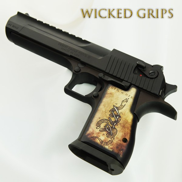 Custom Desert Eagle Grips 1776 Join Die - Wicked