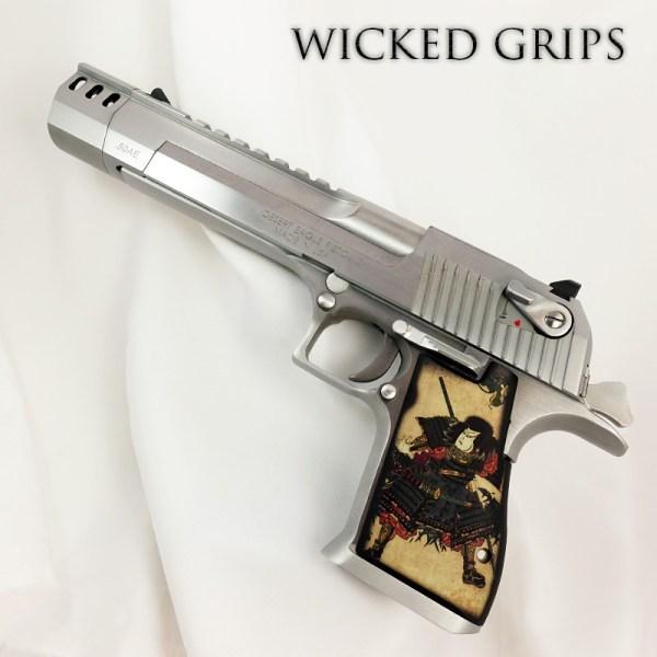 Custom Desert Eagle Grips Samurai - Wicked