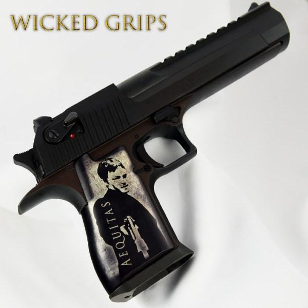 Custom Desert Eagle Pistol Grips Aequitas Veritas - Wicked