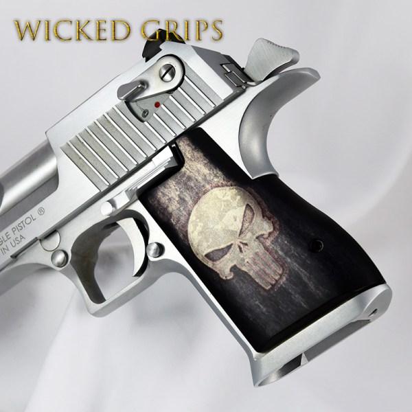 Custom Desert Eagle Pistol Grips Full Metal Punisher