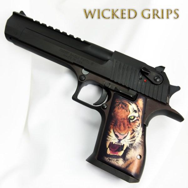 Custom Desert Eagle Grips Tiger - Wicked