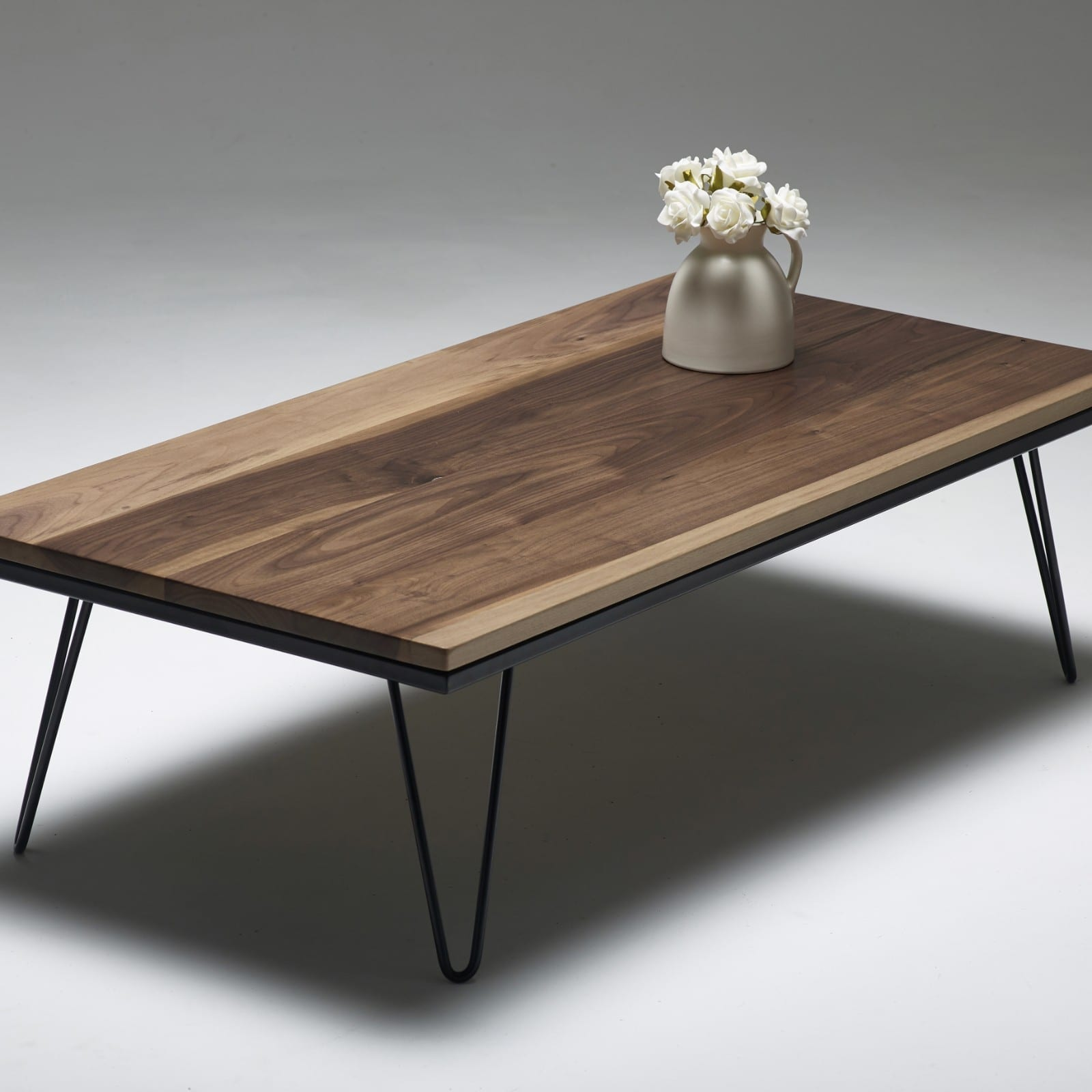 walnut hairpin coffee table