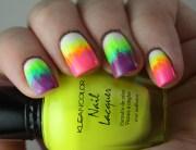 rainbow streak nail art wickednails