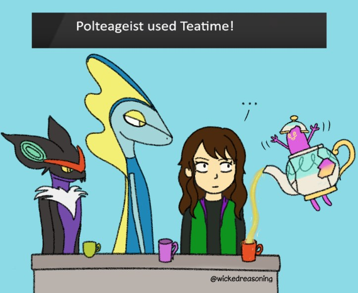0 teatime with polteageist pokemon sword shield wicked reasoning comic