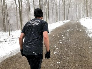 Black Wicked Trail shirt in the snow