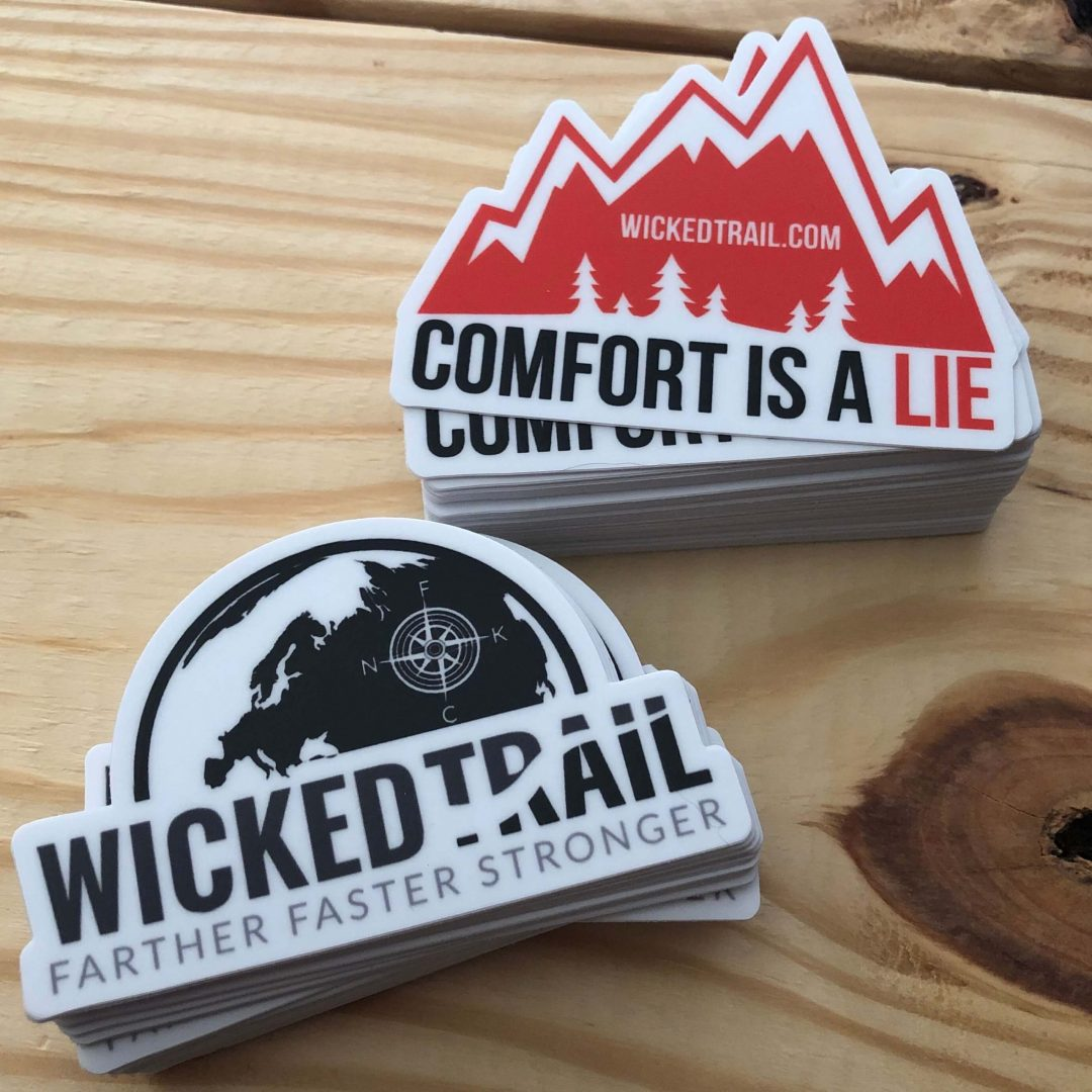 Wicked Trail Running Stickers