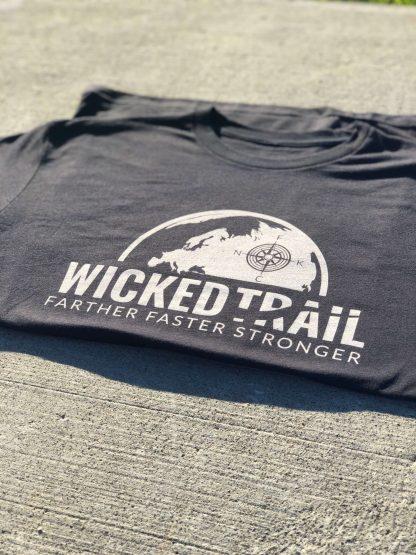 Black Comfort Is A Lie Strength Tee Wicked Trail Ultra Marathon Gear