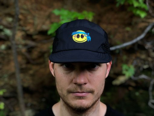Smiley UltraCap ultra marathon hat by Wicked Trail ultrarunner hat