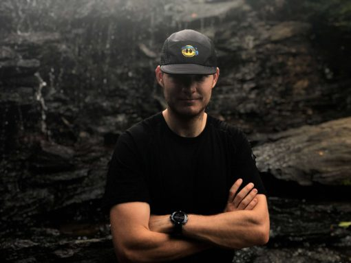 Smiley UltraCap ultrarunners hat by Wicked Trail