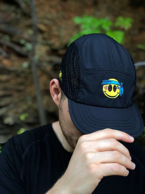Smiley ultra marathon hat by Wicked Trail Running