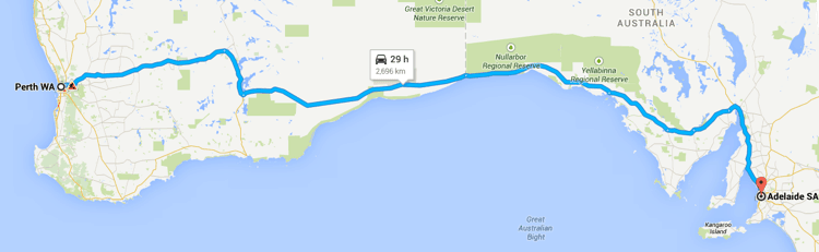 Driving around Australia on Highway One - Perth to Adelaide