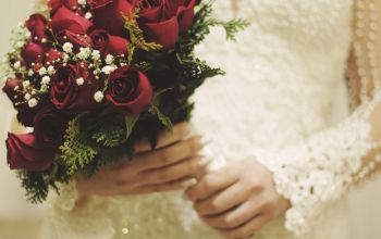 Prompt #457: Point of view of a wedding bouquet