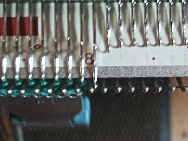 Increase 1 stitch on the right