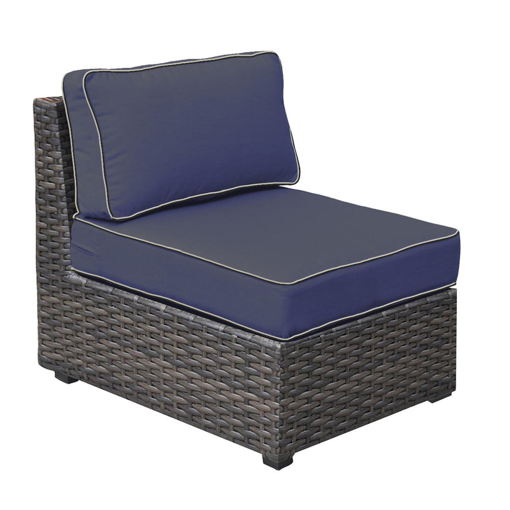Armless Lounge Chair Forever Patio Horizon Armless Wicker Lounge Chair Replacement Cushion