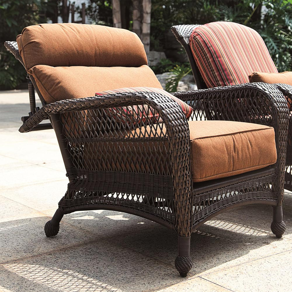 Wicker Patio Chair Longboat Key Incline Wicker Recliner