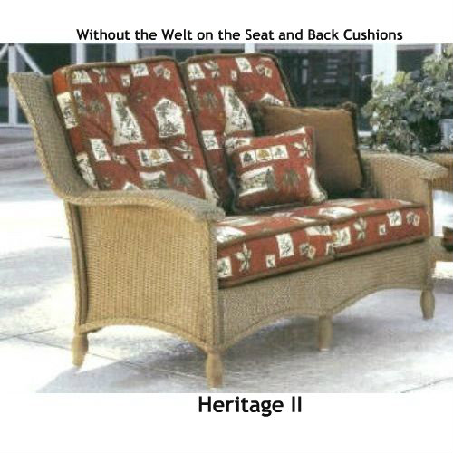 replacement cushions for living room sofa 2 modern center table heritage ii loveseat cushion wicker imports online