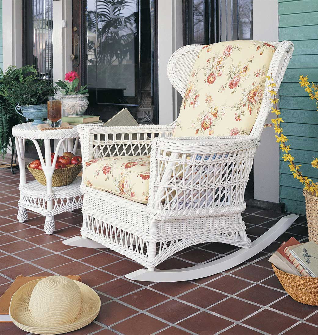 White Wicker Rocking Chair Vintage Natural Wicker Rocking Chair