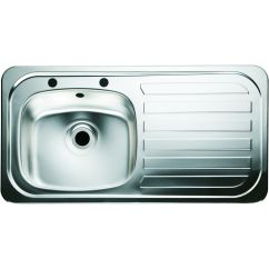 Single Bowl Stainless Kitchen Sink Trash Can Wickes 1 Right Hand Drainer Steel Co Uk