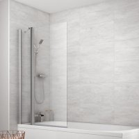 Wickes 1/2 Frame Fixed Panel Square Bath Screen - 1400 x ...