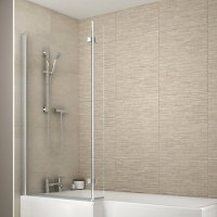 Wickes Aluminium & Glass L-shaped Shower/Bath Screen ...