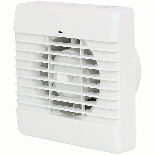 Manrose Bathroom Extractor Fan With Humidistat White 100mm Wickes Co Uk