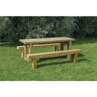 Forest Garden Sleeper Bench and Table Set