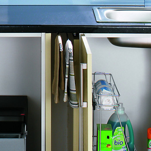 kitchen towel racks danze faucets wickes pull out rail chrome co uk