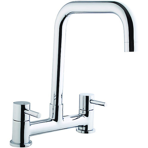 kitchen taps small table for 2 wickes seattle bridge sink mixer tap chrome co uk mouse over image a closer look