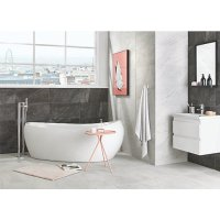 Wickes Amaro Charcoal Porcelain Tile 615 x 308mm   Wickes ...