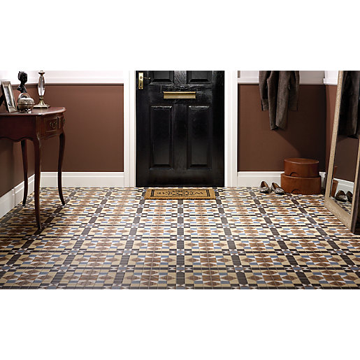 ceramic tile for kitchen faucet sale canada floor tiles wickes co uk dorset marron patterned 316 x 316mm