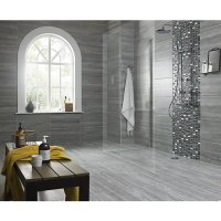 Wickes Everest Slate Porcelain Tile 600 x 300mm | Wickes.co.uk