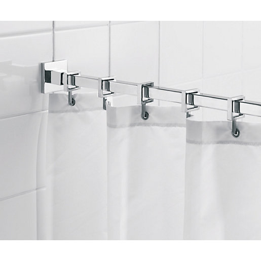 Croydex Luxury Square Shower Curtain Rail Wickes Co Uk