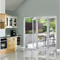 Wickes Burman Finished Folding Patio Door White 7ft Wide ...