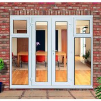 Wickes Upvc French Doors 8ft with 2 Side Sash Panels 600mm ...