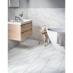 White Kitchen Floor Dishes Sets Wall Tiles 15 Off Wickes Co Uk Calacatta Matt Glazed Marble Effect Porcelain Tile 600 X 300mm