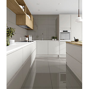 floor tile for kitchen outdoor cabinets stainless steel wall tiles 15 off wickes co uk seattle glazed porcelain 600 x 300mm