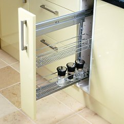Kitchen Pull Out Shelves Gadgets Wickes 2 Tier Steel Storage Basket 150mm Co Uk