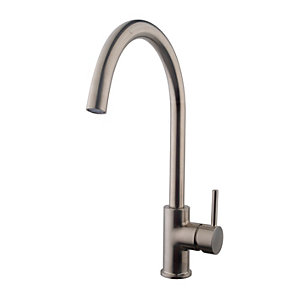kitchen tap ideas for walls wickes fiora monobloc sink mixer brushed nickel co uk